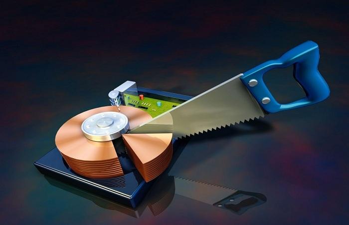 разделить жесткий диск