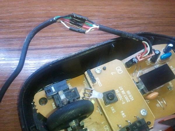 поврежденный кабель мыши